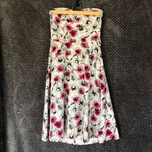 Rockabilly Pin-up Strapless Floral Dress from H&M